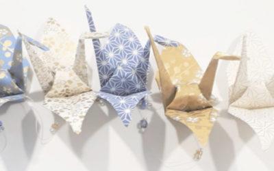Une belle guirlande en origami