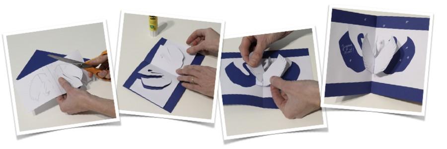 Marque-places et cartes de vœux en pop-up
