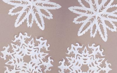 Décorations de Noël : des flocons à découper