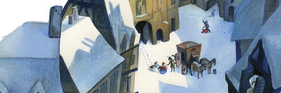 Lire des histoires d'hiver, de neige et de Noël
