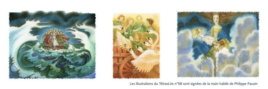Les cygnes sauvages d'Andersen par Phgilippe Pauzin pour le TétrasLire n°58