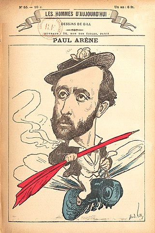 Portrait de Paul Arène par Gil