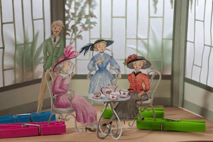 Sylvie Pélissier crée un décor pour TétrasLire n°60 HUMOUR