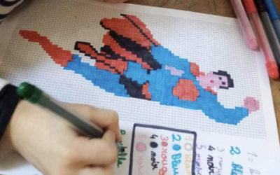 La grille de coloriage héroïque